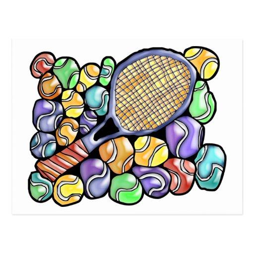 Postal del tenis