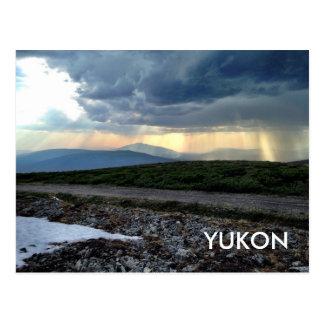 Postal del territorio del YUKÓN (colina del Keno)