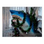 Postal del tiburón del navidad