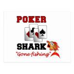 Postal del tiburón del póker