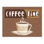 Postal del tiempo del café
