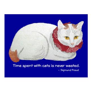 Postal del tiempo del gato