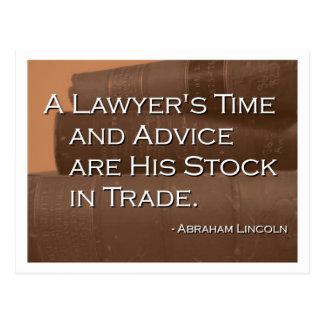 Postal del tiempo y del consejo de un abogado
