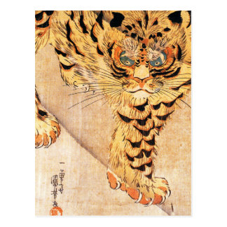 Postal del tigre de Kuniyoshi