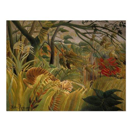 Postal del tigre de Rousseau