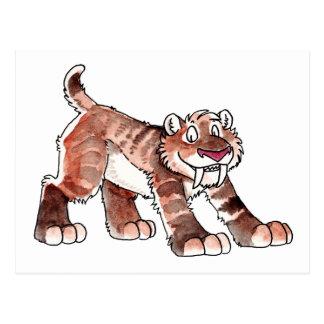 Postal del tigre de Sabretooth