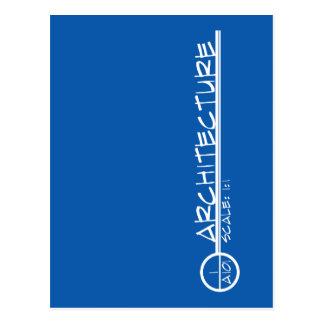 Postal del título del dibujo de la arquitectura