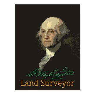 Postal del topógrafo de la tierra de George
