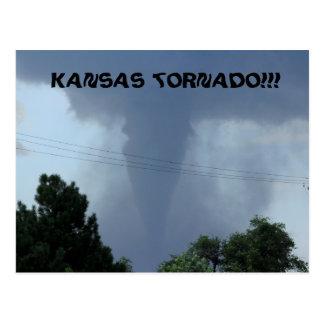 Postal del tornado de Kansas