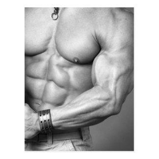 Postal del torso del Bodybuilder