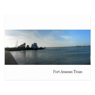 Postal del transbordador de Aransas del puerto