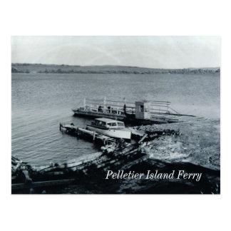 Postal del transbordador de la isla de Pelletier