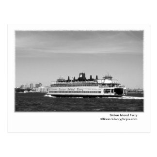 Postal del transbordador de Staten Island