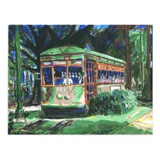 Postal del tranvía de New Orleans St Charles