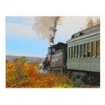 Postal del tren del otoño