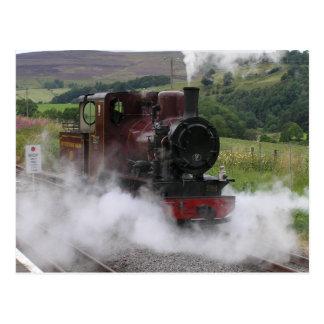 Postal del tren del vapor