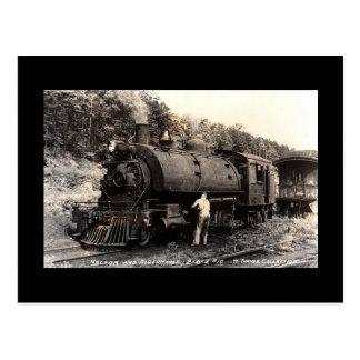 Postal del tren del Vintage-Vapor