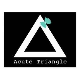Postal del triángulo agudo