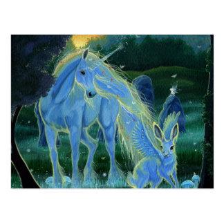 """Postal del unicornio """"de la mañana brumosa de los"""