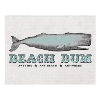 Postal del vago de la playa de la ballena del vint