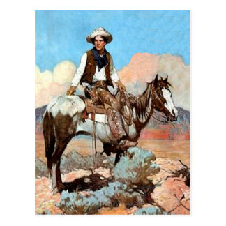 Postal del vaquero de la ley y orden