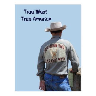 Postal del vaquero de Laramie Wyoming