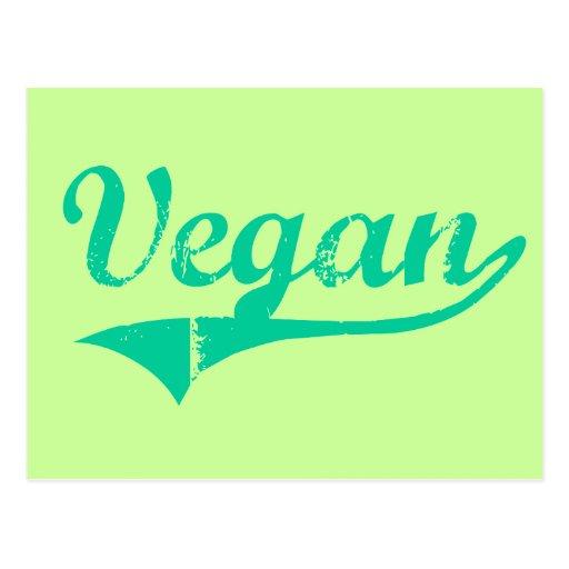 Postal del vegano del equipo