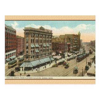 Postal del viaje de Akron Ohio del vintage