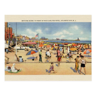 Postal del viaje de Atlantic City New Jersey del v