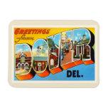 Postal del viaje de Dover Delaware DE Old Vintage Iman Rectangular