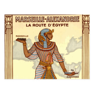 Postal del viaje de Egipto del vintage