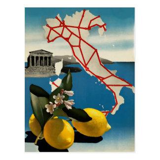 Postal del viaje de Italia del vintage