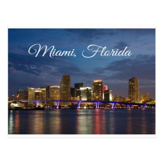 Postal del viaje de la Florida del horizonte de Mi