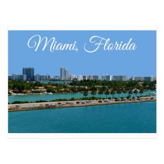 Postal del viaje de Miami Beach la Florida de la b