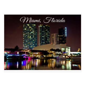 Postal del viaje de Miami Beach la Florida Sklylin