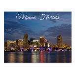 Postal del viaje de Miami BeachSkyline la Florida