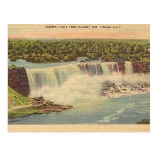 Postal del viaje de Niagara Falls del vintage