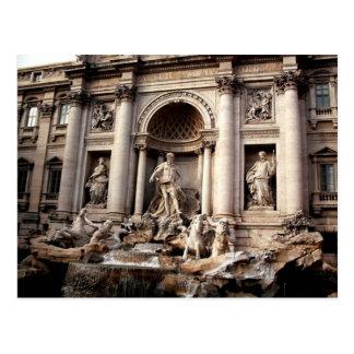 Postal del viaje de Roma Italia de la fuente del