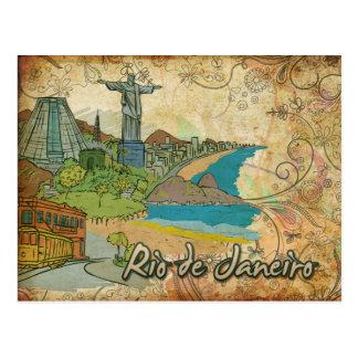 Postal del viaje del Brasil Río de Janeiro