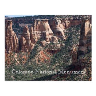 Postal del viaje del monumento nacional de Colorad