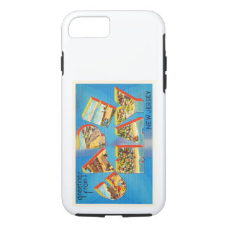Postal del viaje del vintage de Cape May #2 New Funda iPhone 7