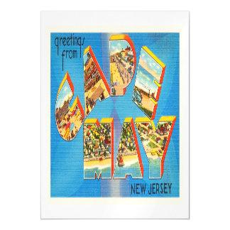 Postal del viaje del vintage de Cape May #2 New Invitaciones Magnéticas