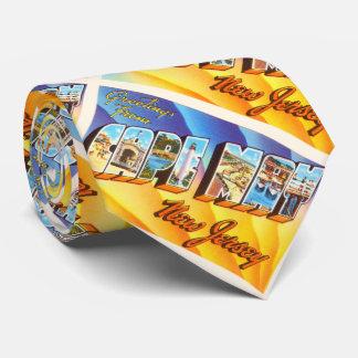 Postal del viaje del vintage de Cape May New Corbatas