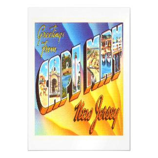 Postal del viaje del vintage de Cape May New Invitaciones Magnéticas
