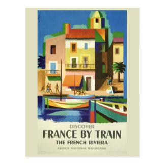 Postal del viaje del vintage de FRANCIA