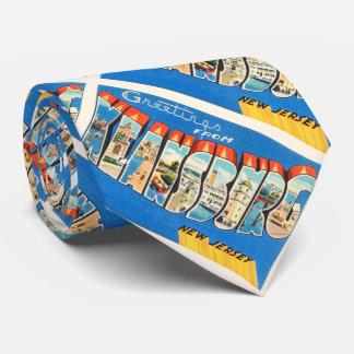 Postal del viaje del vintage de Keansburg New Corbata Personalizada