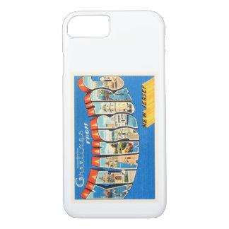 Postal del viaje del vintage de Keansburg New Funda iPhone 7