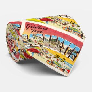 Postal del viaje del vintage de Lavallette New Corbata Personalizada