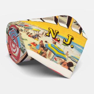 Postal del viaje del vintage de Lavallette New Corbatas Personalizadas