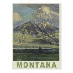 Postal del viaje del vintage de Montana los